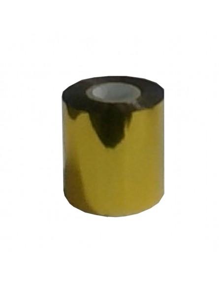 Película para gravação 10cm x 122 mts - Cor Dourada